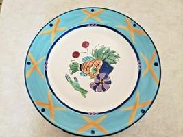 "Mikasa Studio Nova ""Ocean Collage"" Round Platter CA059 Fish Sea Blue Edg... - $46.75"
