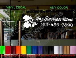 STORE NAME window Door Decal Sign CUSTOM flower shop jewelry clothing boutique - $17.39+