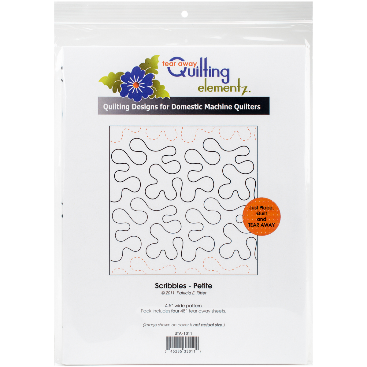 """Quilting Creations Printed Tear Away Quilting Paper 4/Pkg-Scribbles-Petite 4.5"""" - $15.99"""