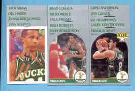 1990/91 Hoops Milwaukee Bucks Basketball Team Set  - $2.50