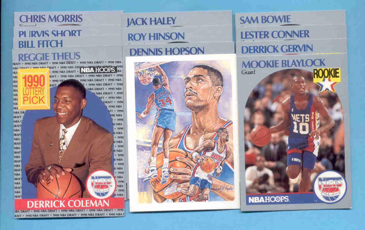 1990/91 Hoops New Jersey Nets Basketball Team Set