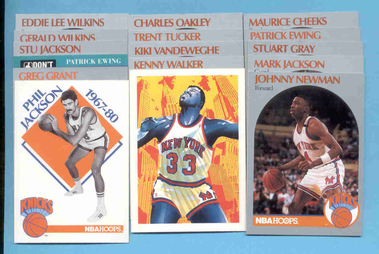 1990/91 Hoops New York Knicks Basketball Team Set