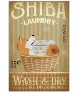 VibesPrints Laundry Shiba Inu Poster Art Print Home Decor - Gift For Shi... - $25.59+