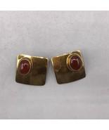Vintage Ken Gastineau Signed Gold Tone Clip On Earrings Jewelry Mid Century - $48.50