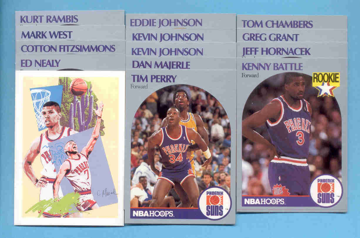 1990/91 Hoops Phoenix Suns Basketball Team Set