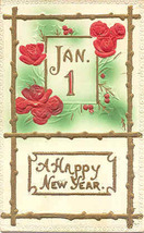 A Happy New Year Vintage 1917 Post Card - $5.00