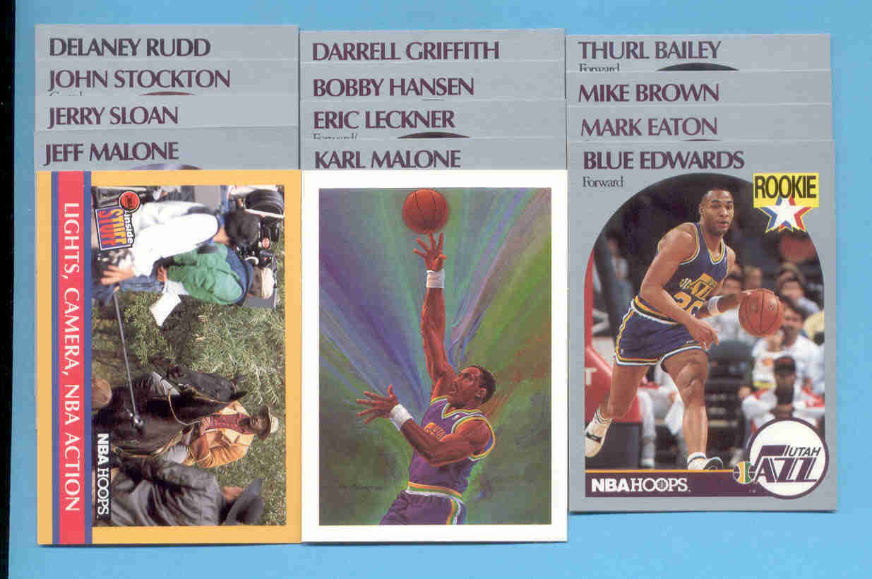 1990/91 Hoops Utah Jazz Basketball Team Set