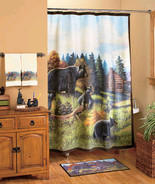 Avanti 18-Pc. Set Black Bear Bath Collection Shower Curtain and Bath Acc... - $142.75
