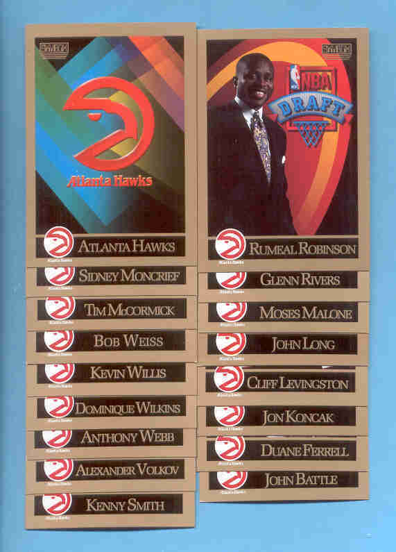 1990/91 SkyBox Atlanta Hawks Basketball Team Set