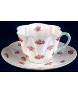 Shelley Rosebud Cup & Saucer Dainty Shape 13428 Fine Bone China England - $35.00