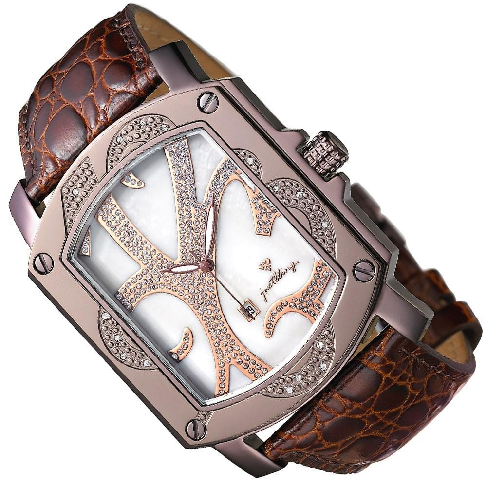 New Just Bling Men's  0.16Ct Diamonds Watch JB-6102-M