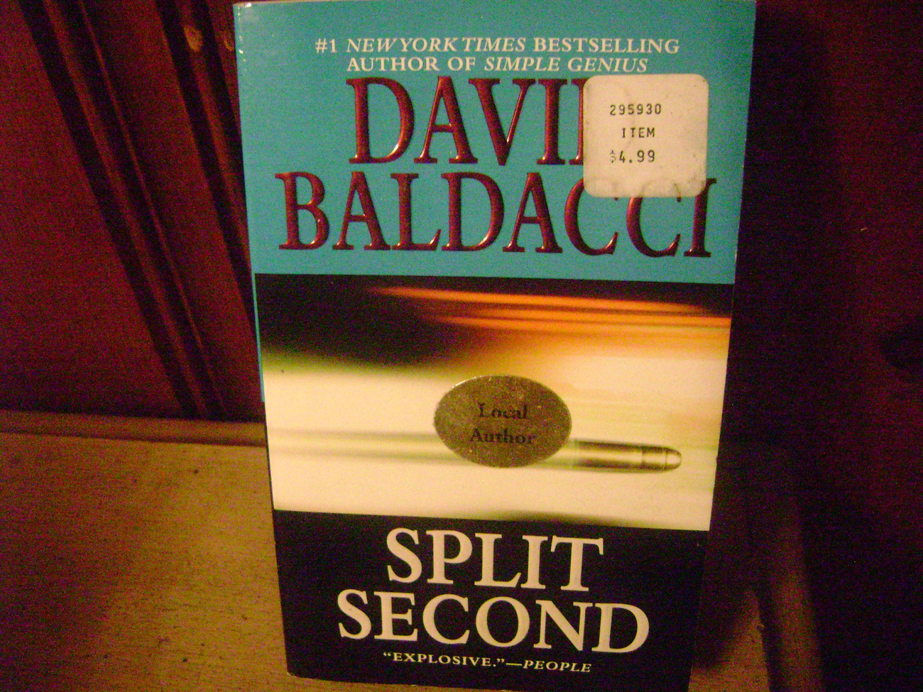 Primary image for Split Second   David Baldacci