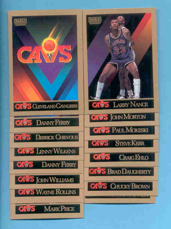1990/91 Skybox Cleveland Cavaliers Basketball Team Set