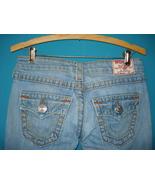 True Religion Joey Big T Jeans SZ 26 Stretch Light Denim - $42.00