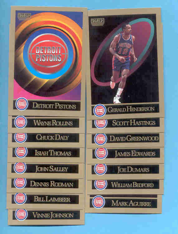 1990/91 Skybox Detroit Pistons Basketball Set