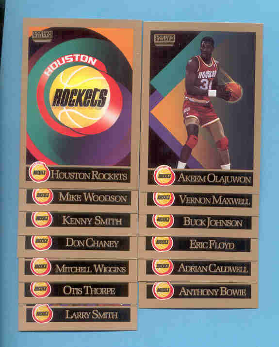 1990/91 Skybox Houston Rockets Basketball team Set