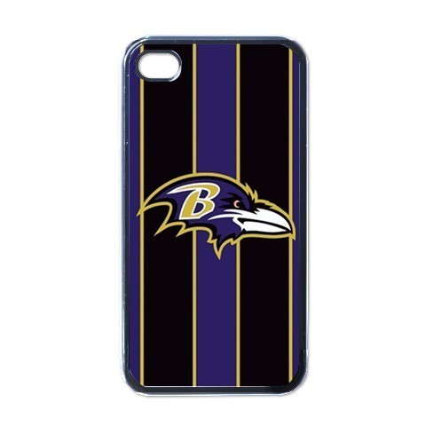 BALTIMORE RAVENS HARD BACK CASE FOR APPLE iPHONE 4/4S