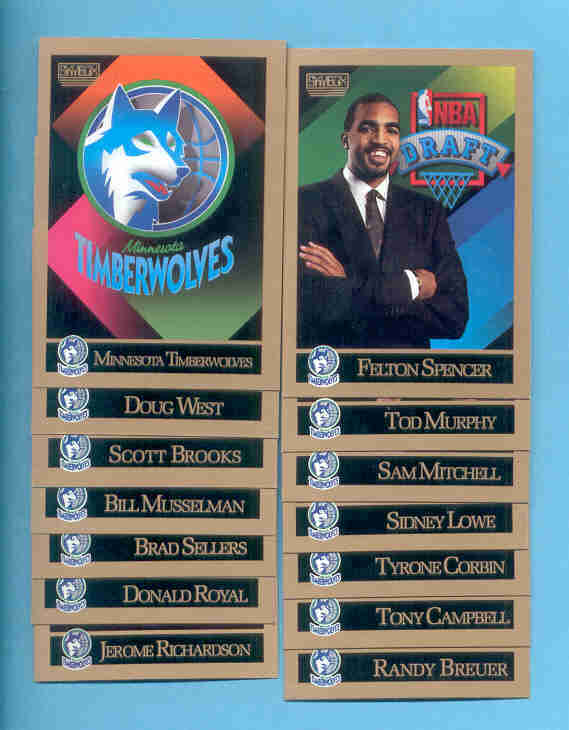 1990/91 Skybox Minnesota Timberwolves Basketball Team Set