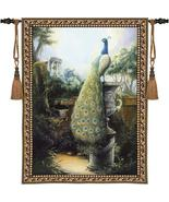 40x53 PEACOCK Bird Tropical Fine Art Tapestry W... - $169.95
