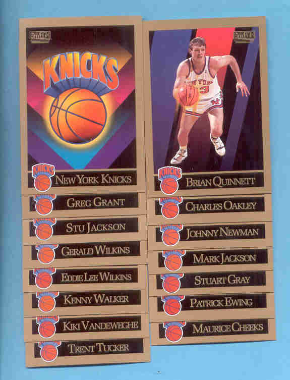 1990/91 Skybox New York Knicks Basketball Team Set