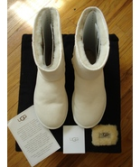 UGG Classic Short #5825 White Boots Size 8 Pre Owned Condition Hard to Find - $135.00