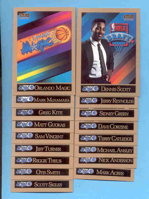 1990/91 Skybox Orlando Magic Basketball Team Set