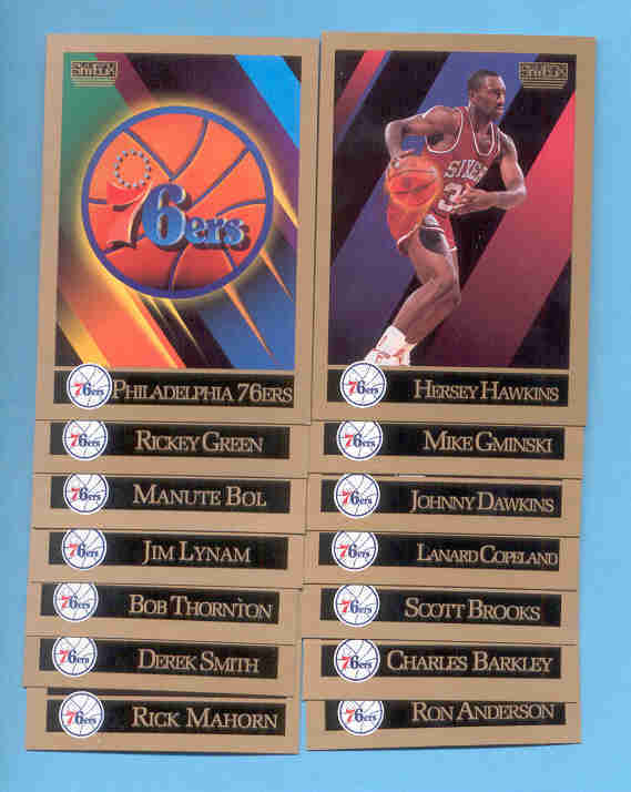 1990/91 Skybox Philadelphia 76ers Basketball Team Set