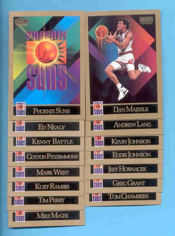 1990/91 Skybox Phoenix Suns Basketball Team Set