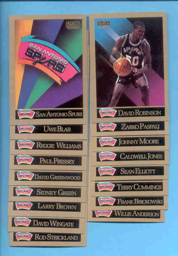 1990/91 Skybox San Antonio Spurs Basketball Set