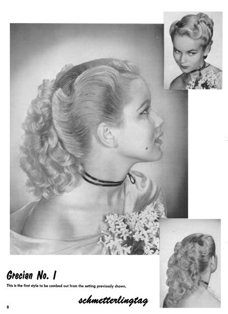 1950s ATOMIC Hairstyle Book Create 50s Long Hairstyles Beautician Hair Styles