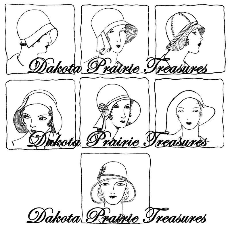 Depression Era Embroidery Iron-on Transfer Designs Flapper Hats Quilt Patterns