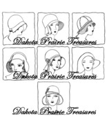 Depression Era Embroidery Iron-on Transfer Designs Flapper Hats Quilt Pa... - $4.99