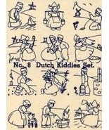 Depression Era Embroidery Iron-on Transfers Dutch Children Quilt Holland... - $4.99