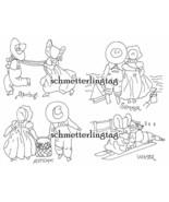 Depression Era Embroidery Iron-on Transfers Sunbonnet Sue Overall Sam Pa... - $4.99