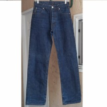 "AJ ARMANI JEANS Straight Leg Eco Wash Size 30 X 33"". Size run small - $34.99"
