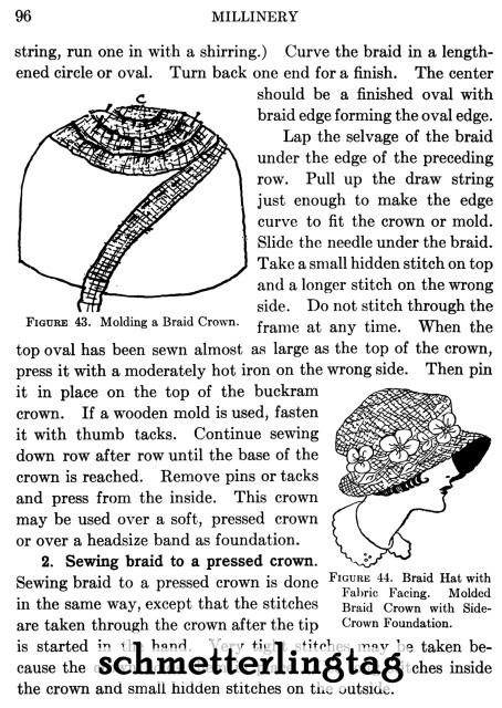 MILLINERY Lessons Book LOEWEN Hat Making Flapper Era Designs Milliner Guide 1925