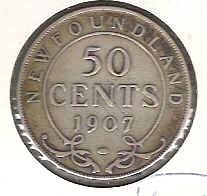 Nice rare 1907 New Foundland Half