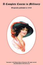 Millinery Book Hat Making How to Make Flapper Era Hats 1919 Titanic Milliner - $14.99
