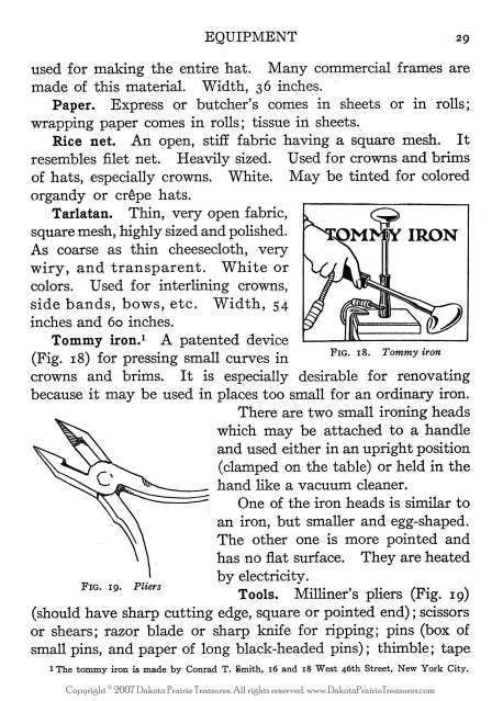 Millinery Book Hat Making Make Flapper Era Hats Patty 1925 Milliner Guide Manual