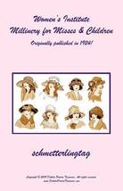 Millinery Book Make Flapper Era Child Childrens Hat Making Milliner Guide 1924 - $12.99