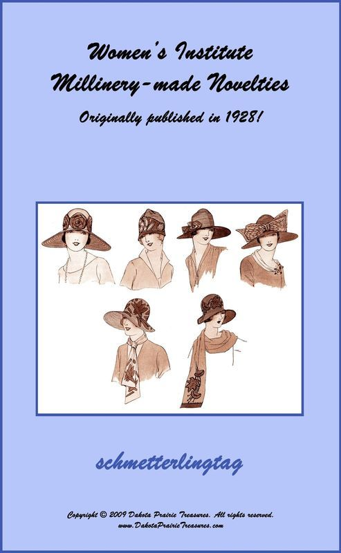 Millinery Book Make Flapper Era Hat Trims How to Trim Hats 1928 Milliner Guide