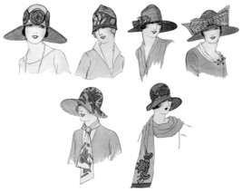 Millinery Book Make Flapper Era Hat Trims How to Trim Hats 1928 Milliner Guide image 2