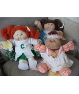 collectible Vintage Cabbage Patch dolls, lot of 3, girl cheerleader, dog... - $199.99