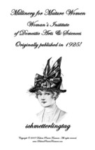 Millinery Book Make Flapper Era Hats Hat Making Patterns Milliner Guide 1916 - $12.99