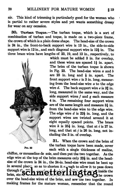 Millinery Book Make Flapper Era Hats Hat Making Patterns Milliner Guide 1916