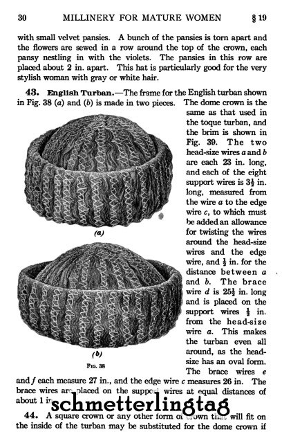 Millinery Book Make Flapper Era Hats Hat Making Patterns Milliner Guide 1916