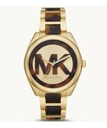 New Michael Kors MK7136 Janelle Tortoise Acetate Gold Tone Dial Women's ... - $114.97