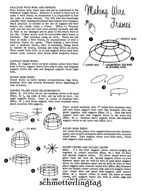 Millinery Book Retro Hat Making Make Hats 30 Patterns 1966 Jackie O Era Styles