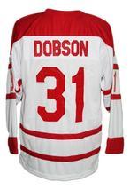 Custom Name # London Racers Hockey Jersey New White Adam Dobson Any Size image 2