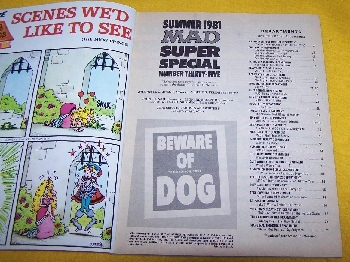 Vintage Mad Magazine Super Special Summer 1981